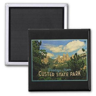 Parque de estado de Custer Imán Cuadrado