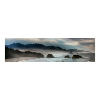 Parque de estado de Ecola en la costa de Oregon Póster