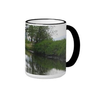 Parque de estado de la bahía del abedul taza de café