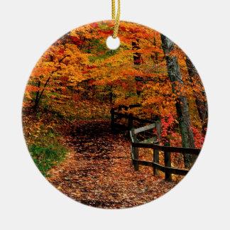 Parque de estado de la cala de Mccormick del otoño Adorno Redondo De Cerámica