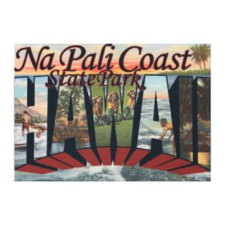 Parque de estado de la costa del Na Pali Hawaii Impresiones En Lona Estiradas