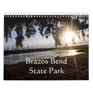 Parque de estado de la curva de Brazos Calendario