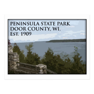 Parque de estado de la península postales
