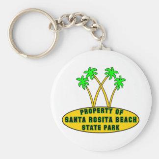 Parque de estado de la playa de Santa Rosita Llavero Redondo Tipo Pin