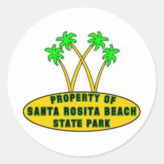 Parque de estado de la playa de Santa Rosita Etiquetas Redondas