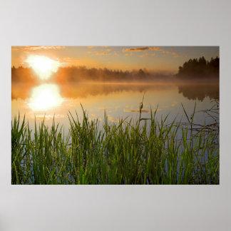 Parque de estado de los E.E.U.U., Idaho, lago Póster