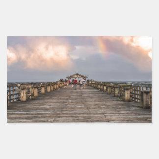 Parque de estado de Myrtle Beach Pegatina Rectangular