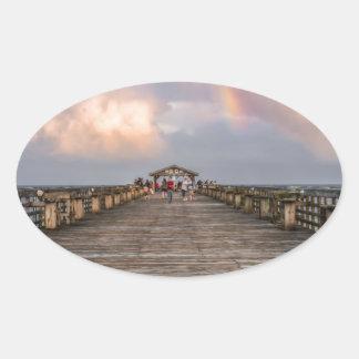 Parque de estado de Myrtle Beach Pegatina Ovalada