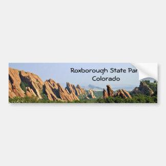 Parque de estado de Roxborough - Colorado Etiqueta De Parachoque
