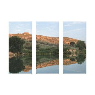 Parque de estado de Scott del lago - lona envuelta Impresiones En Lona Estiradas