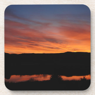 Parque de estado de Scott del lago sunset - Kansas Posavasos De Bebidas