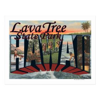 Parque de estado del árbol de la lava, Hawaii Postales