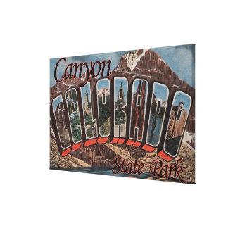 Parque de estado del barranco, Colorado - escena g Impresiones En Lienzo Estiradas