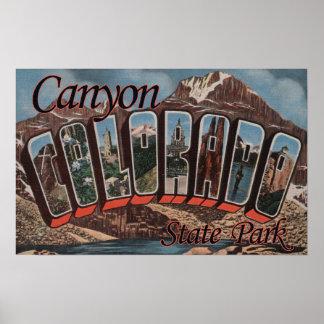 Parque de estado del barranco, Colorado - escena g Posters