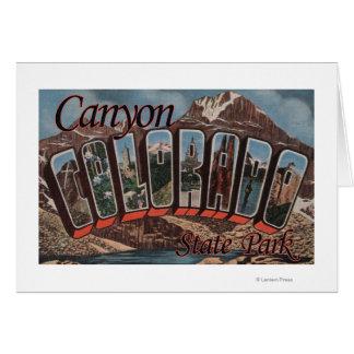 Parque de estado del barranco, Colorado - escena g Felicitación