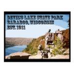 Parque de estado del lago devil's postal
