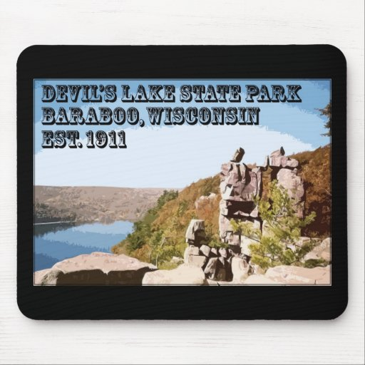 Parque de estado del lago devil's alfombrilla de raton