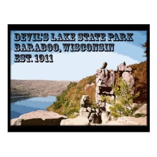 Parque de estado del lago devil's tarjetas postales