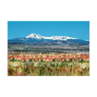 Parque de estado del Mt. Katahdin Baxter en Maine Impresión En Lienzo