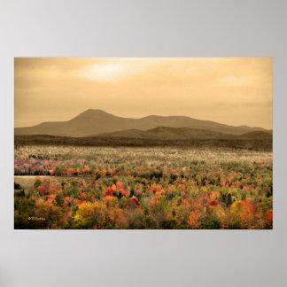 Parque de estado del Mt. Katahdin Baxter Maine Poster