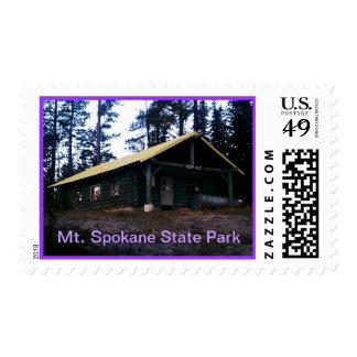 Parque de estado del Mt. Spokane de la choza de Sello