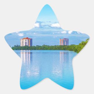 Parque de estado dominante de la playa de los aman pegatinas forma de estrella personalizadas