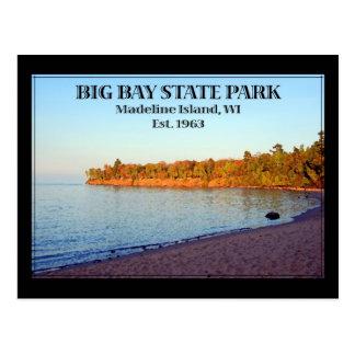 Parque de estado grande de la bahía tarjeta postal