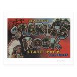 Parque de estado hambriento de la roca - escenas postal