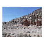 Parque de estado rojo del barranco de la roca tarjetas postales