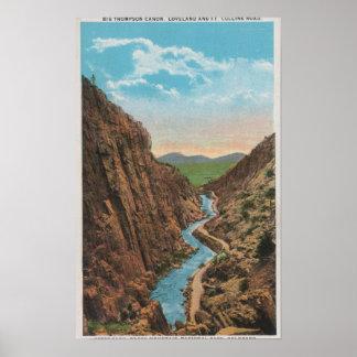 Parque de Estes, CO - opinión Thompson grande Cano Póster