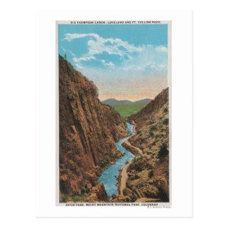 Parque de Estes, CO - opinión Thompson grande Tarjetas Postales