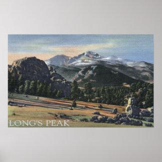 Parque de Estes, Colorado - desea la visión máxima Posters