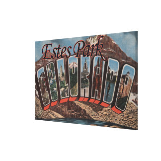 Parque de Estes, Colorado - escenas grandes de la  Impresion En Lona