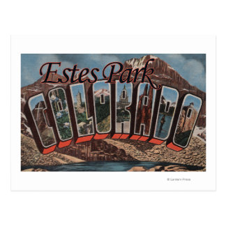 Parque de Estes, Colorado - escenas grandes de la Tarjetas Postales