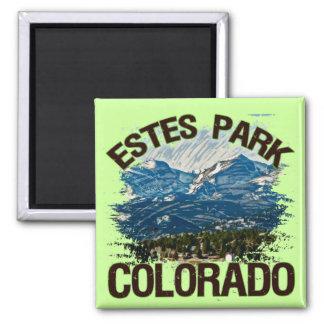 Parque de Estes, Colorado Imán Cuadrado