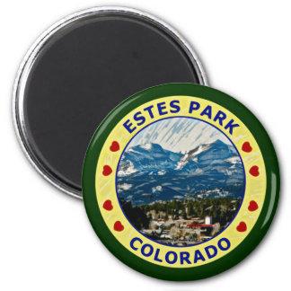 Parque de Estes, Colorado Imán Redondo 5 Cm