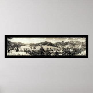 Parque de Estes, foto 1940 de Colorado Posters