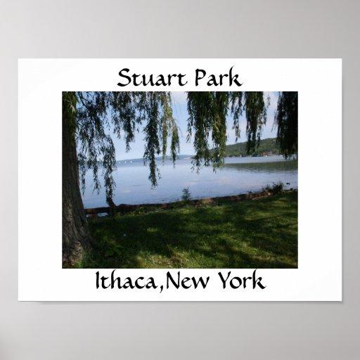 PARQUE de ESTUARDO, poster de ITHACA, NUEVA YORK