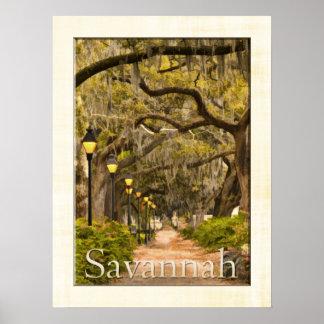 Parque de Forsyth - sabana, GA Posters