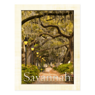 Parque de Forsyth - sabana, GA Tarjetas Postales