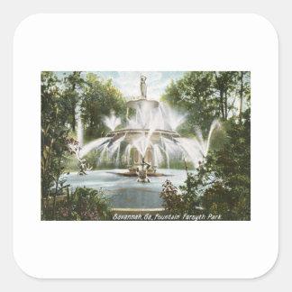 Parque de Forsyth, vintage 1906 de la sabana Pegatina Cuadrada