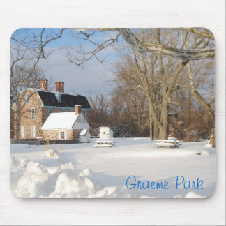Parque de Graeme en invierno Alfombrillas De Ratones