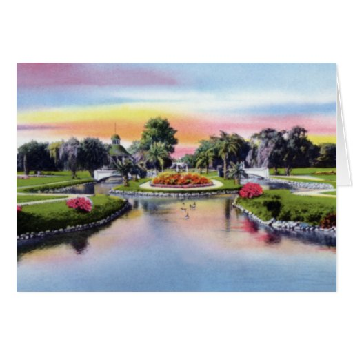 Parque de Hampton en Charleston Carolina del Sur 1 Tarjeta De Felicitación