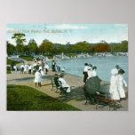 Parque de Humboldt, búfalo, vintage de NY Poster