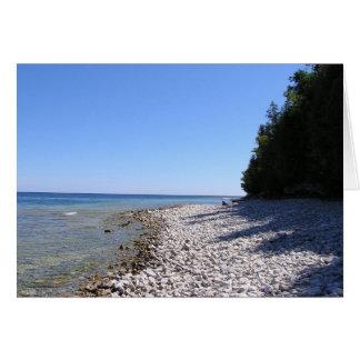 Parque de isla estado de la roca tarjeta de felicitación