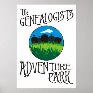 Parque de la aventura de los Genealogists Poster