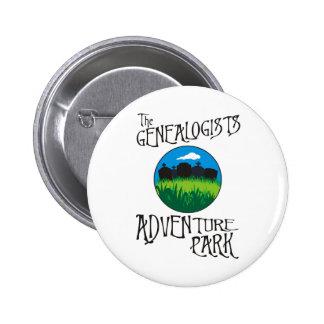 Parque de la aventura de los Genealogists Pin Redondo De 2 Pulgadas