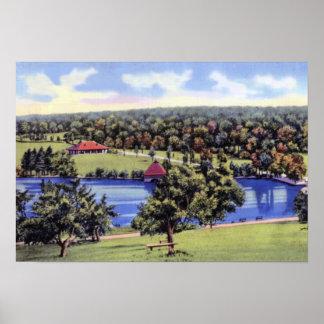 Parque de la colina verde de Worcester Massachuset Poster