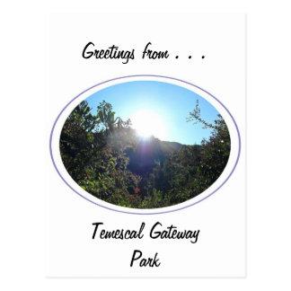 Parque de la entrada de Temescal Tarjetas Postales