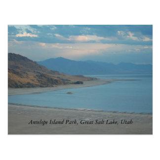 Parque de la isla del antílope, Great Salt Lake… Tarjeta Postal